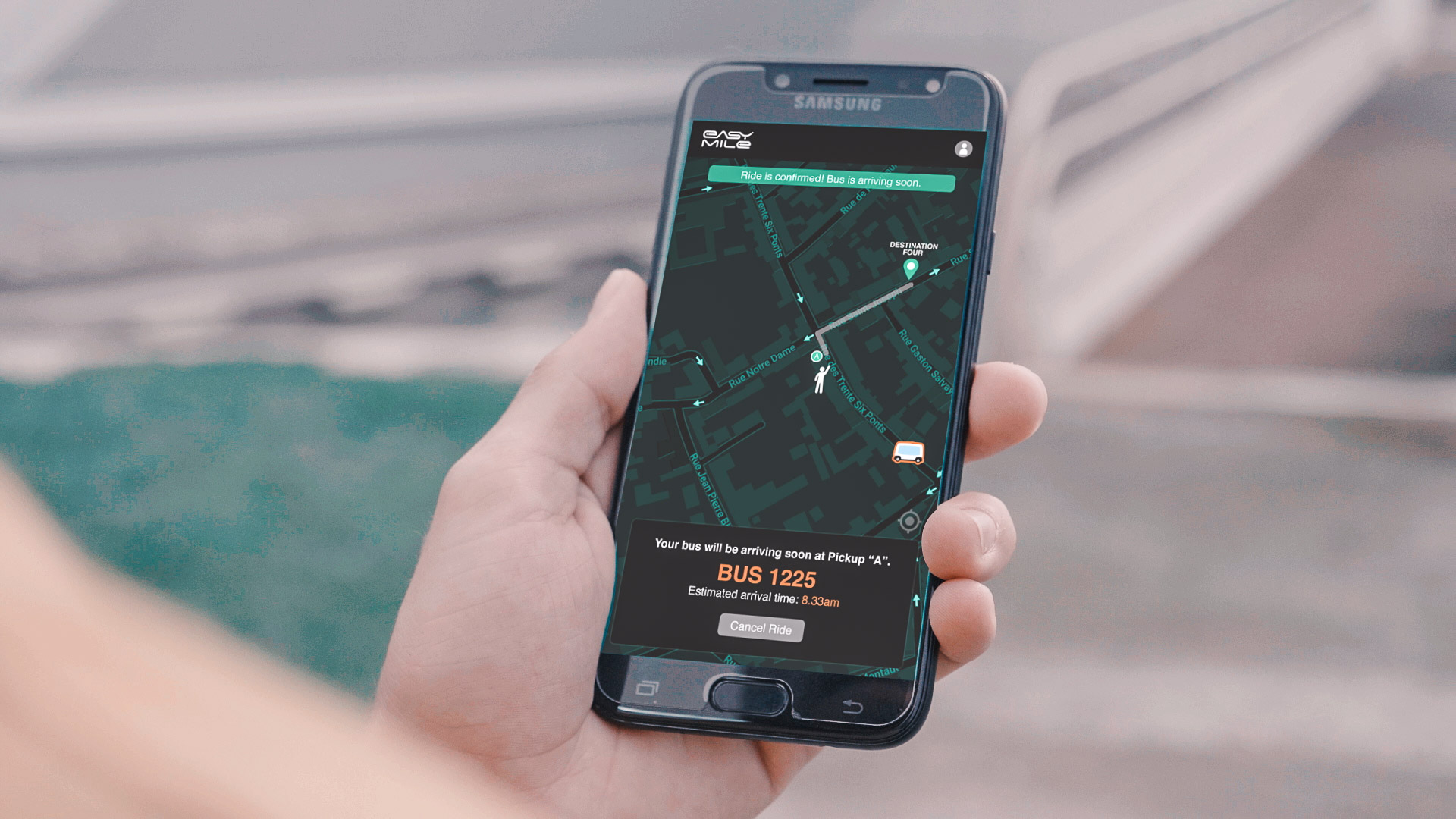 Track and control autonomous vehicle fleets from a smartphone or tablet