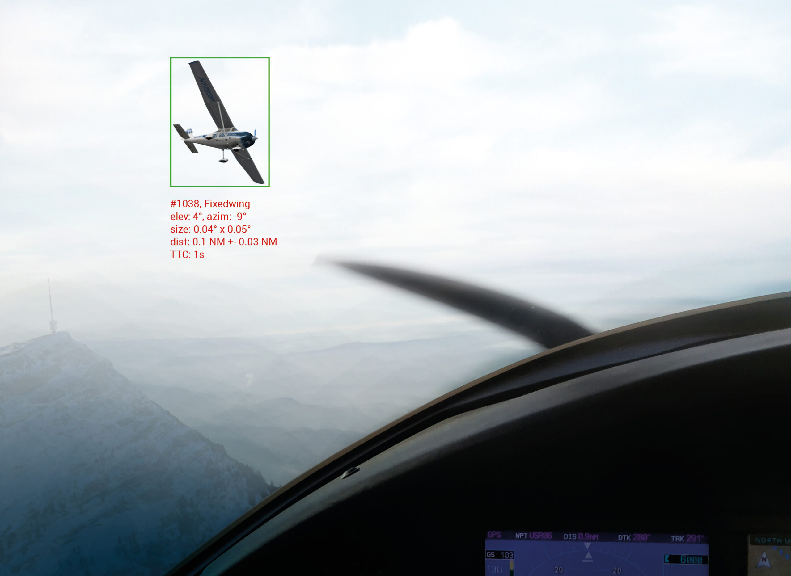 Air obstacle detection visualisation