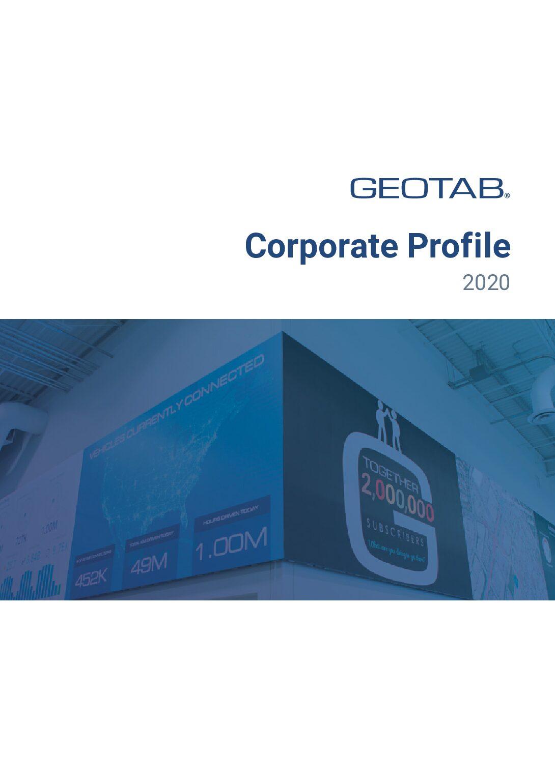 Geotab Corporate Profile