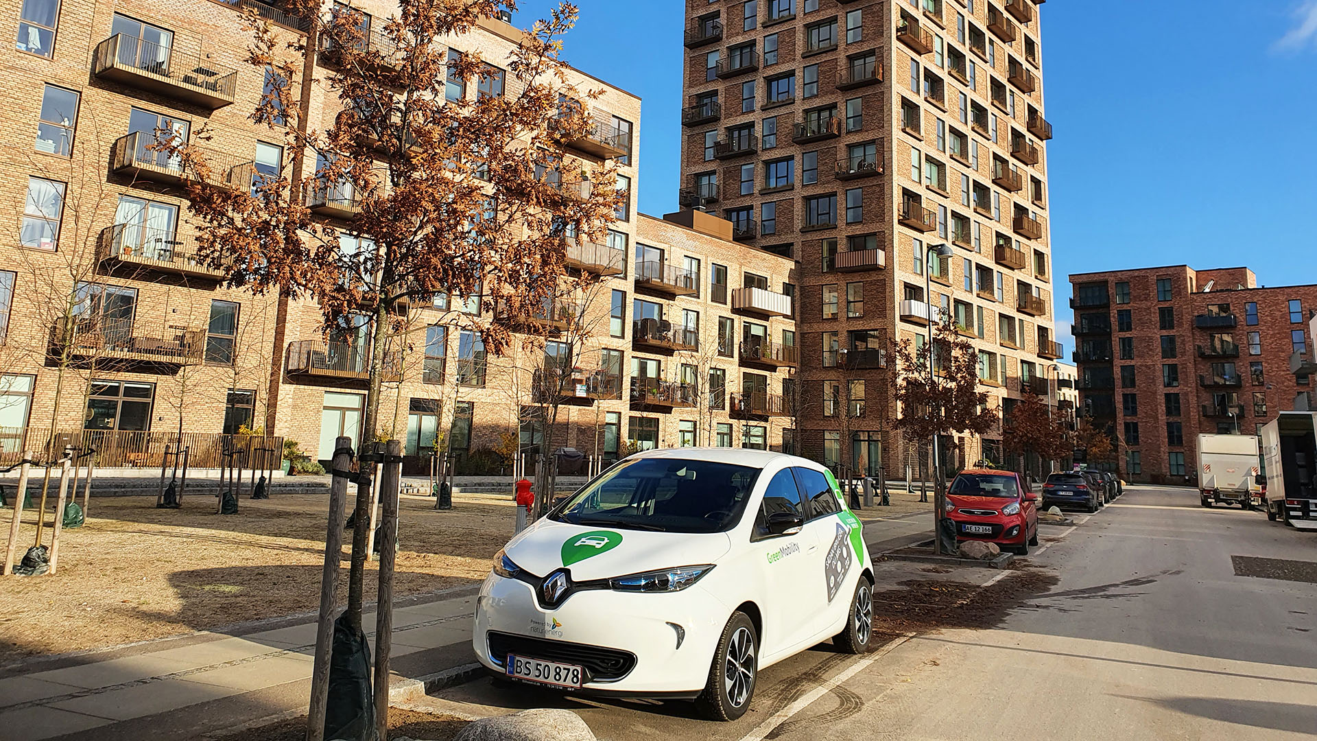 Park for free with GreenMobility