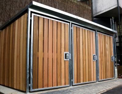 Turvec | Cubic Wooden Bike Shelter