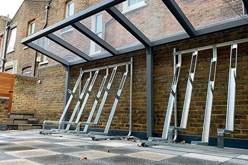 Semi Vertical Bike Racks