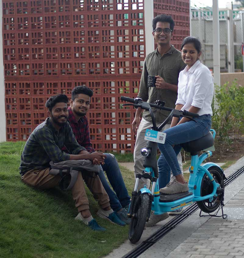 Green campuses with Yulu