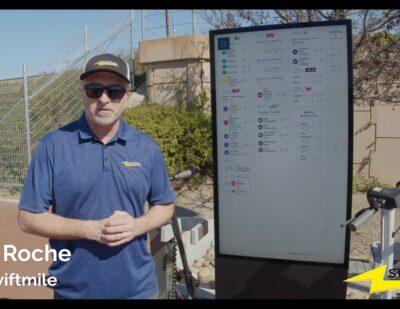 Swiftmile New Digital Display Screen in the Field