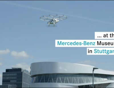 Volocopter Flies Air Taxi over European City