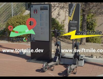 Swiftmile Smart Charging Station + Tortoise Self Guided Scooters