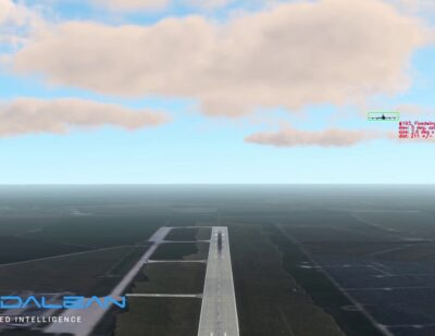 Daedalean's Air Obstacle Detection Function Tested in Simulator