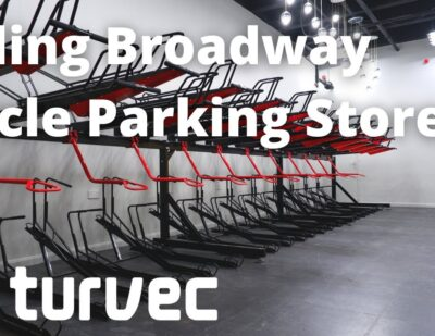 Cycle Parking in Empty Shopping Centre Unit | Turvec