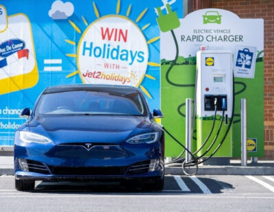 Pod Point Hits Milestone with Lidl GB with Its 100th Rapid Charger