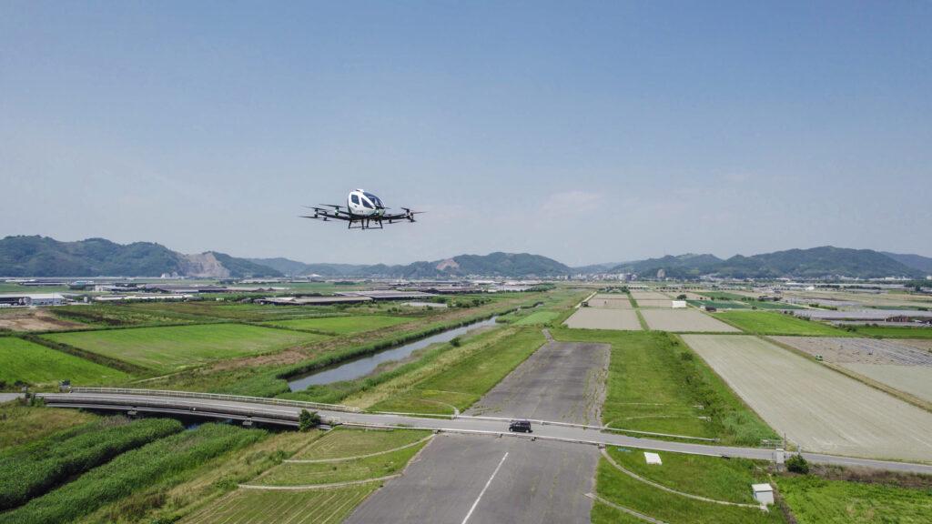 ehang trial flights japan