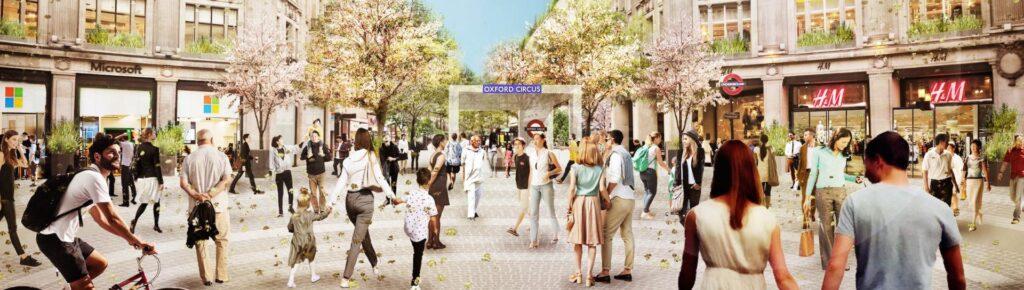 Oxford Circus pedestrian friendly