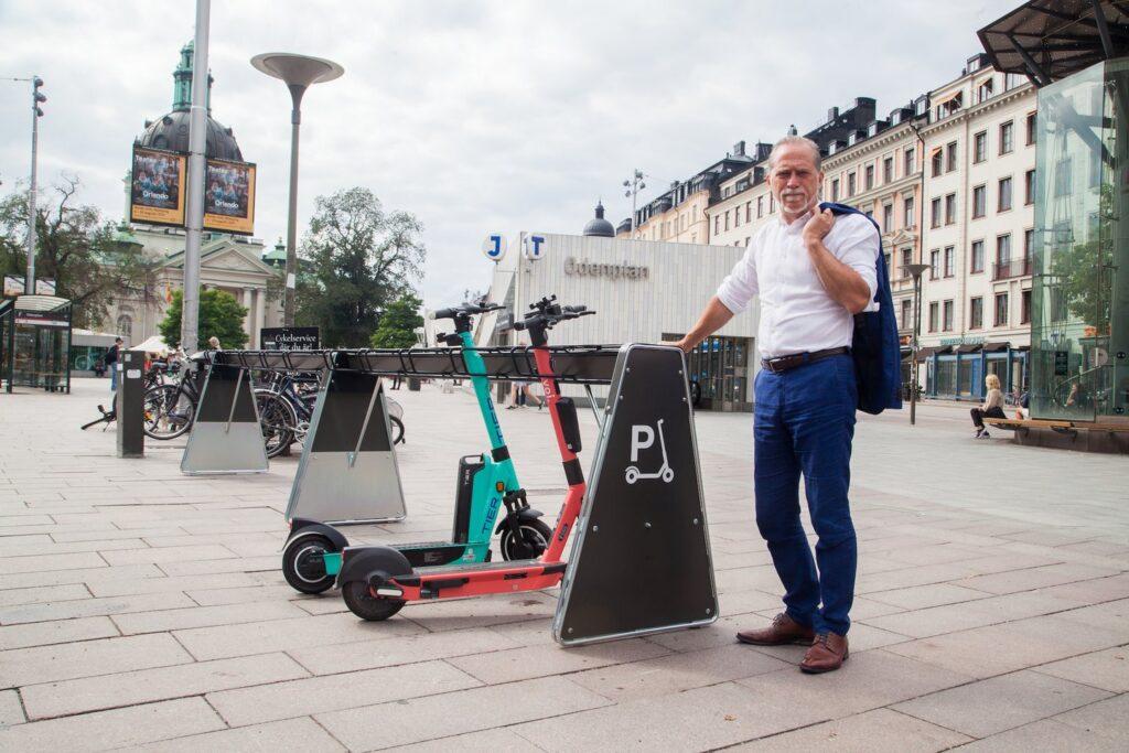 voi scooter parking stockholm