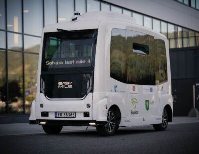 Fully Driverless Shuttle Service Launched at Kongsberg Technology Park