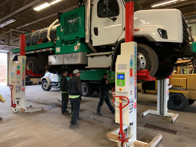 10 Safety Tips to Lift Work Trucks for PM and Repair
