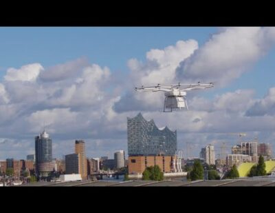 VoloDrone First Public Flight with Logistics Integration with DB Schenker